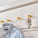 4 Stück Kleiderhaken Holz Vintage Ohne Bohren, Selbstklebende Garderobenhaken Bad , Wandhaken / Wand Haken Design, Huthaken Türhaken Mantelhaken Hakenleiste