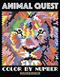 ANIMAL QUEST Color by Number: Adult Coloring Stress Relief Animals Hidden by Numbers: Volume 1 (Adult Coloring Books)