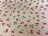 Kirschen gemustert Poly Baumwolle Kleid Stoffe