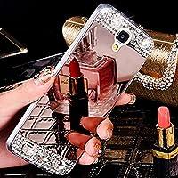 Surakey: funda para Samsung Galaxy S4ultrafina, de espejo, oro rosa, fabricada en suave y flexible silicona TPU, con estrás y brillo de diamante. Protege contra los golpes y el polvo. Funda específica para el teléfono móvil Samsung Galaxy S4., ELE00195MD