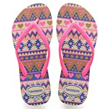 Havaianas Slim Fashion Flips Kids Beige/Pink Schuhgröße EU 29/30   Brazilian 27/28 2018 Sandalen