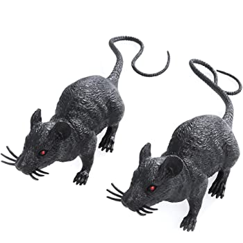 3er set horror ratten super schaurige halloween monster tierchen h llen nager perfekte deko f r. Black Bedroom Furniture Sets. Home Design Ideas