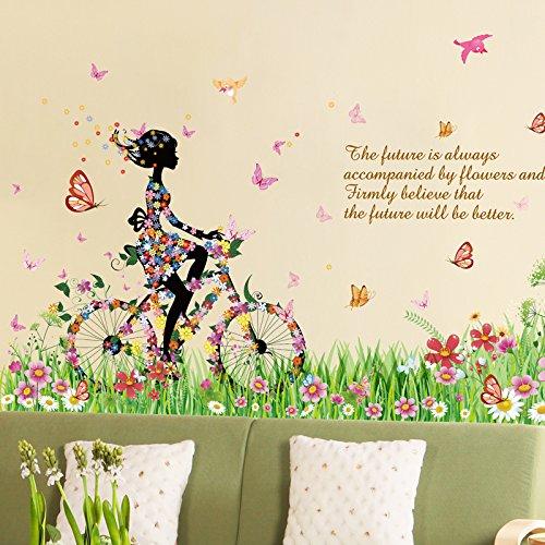 nina-flores-pajaros-adhesivo-decorativo-para-pared-casa-de-vinilo-extraible-papel-pintado-de-salon-d