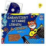 Garantiert Gitarre lernen für Kinder Band 1 - kinderleichte Gitarrenschule (ab 6 Jahren) ist der kindgerechte Einstieg in das Gitarrenspiel - Lehrbuch mit CD, Internet Unterstützung und Dunlop Plek