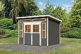 Karibu Gartenhaus TINKENAU 6 terragrau Gerätehaus 302x217cm 19mm