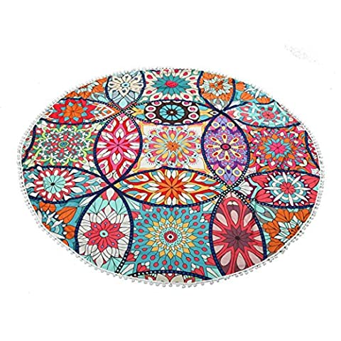 Serviette de plage Couvre-lit, 1PC Omiky® Bohême Floral hippie Tapisserie géométrique Bikini Cover Up Couverture de pique-nique Tapis de yoga Nappe Housse de matelas à suspendre au mur, Polyester, # I, 150*150cm/59*59