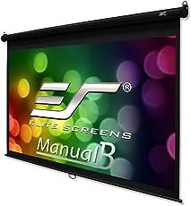 "Elite Screens 120 Inch 16:9 Manual B Pull Down Projection Screen (59.1""Hx104.7""W)"