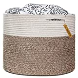 Goodpick Großer Wäschekorb, aus stabilem Baumwollseil, zur Organisation von Wäsche, Decken Baby-Spielzeugen, Kinderzimmer, 40x 40x 35cm