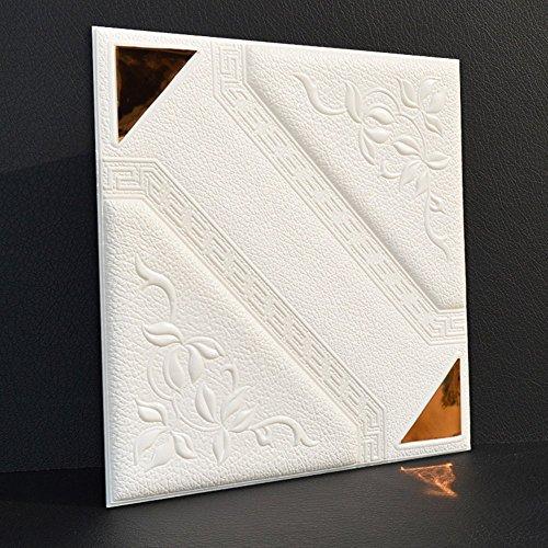 GBYZHMH 10 Stück 3D-Brick Wall Sticker, PE Schaum selbstklebende Tapete abnehmbar und wasserdicht Art Wall Tiles für Schlafzimmer Wohnzimmer Hintergrund TV-Einrichtung
