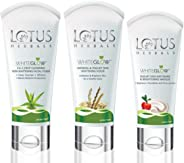 Lotus Herbals Whiteglow Essentials Kit: Face foam, scrub & Masque