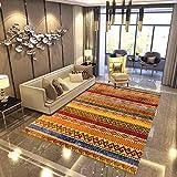 Alfombras De Diseño Moderno para Salón, Alfombra Antideslizante Tamaño Grande Alfombra De Interior Delgada Lavable 140 * 200 Cm …