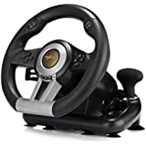 PXN V3II Racing Game Pad 180 Degree Steering Wheel USB Game Controller Computer Car Driving Simulator for PC PS3 PS4 Xbox -Bl