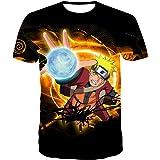 Camiseta de manga corta 3D para hombre de Naruto con impresión 3D, Anime, manga corta