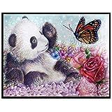 BaZhaHei Diamant Malerei 5D Stickerei Gemälde Strass eingefügt DIY Full Diamond Malerei Voller Diamant Vogel Schmetterling für Home Wand Dekor 30x25cm