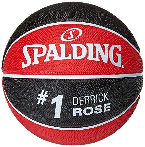 Spalding Ball NBA Player Derrick Rose 83-351Z, rot/schwarz, 7, 3001586011617 (Rose Derrick)