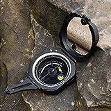 Kompass Multifunktion Peilkompass Ultra Präziser Geologenkompass Leicht Taschenkompass mit Fluoreszierendem Zifferblatt Ultraschneller Richtungsanzeige Zwei Integrierten Wasserwaagen und Tragetasche für Geologe Vermesser Förster Pfadfinder Schwarz