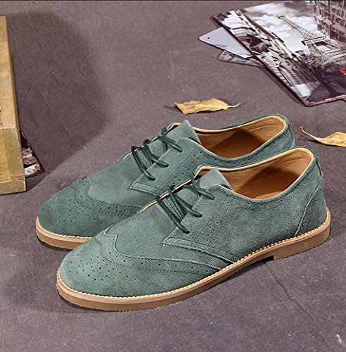 Heart&M patineur chaussures casual Nubuck daim cuir hommes Blue