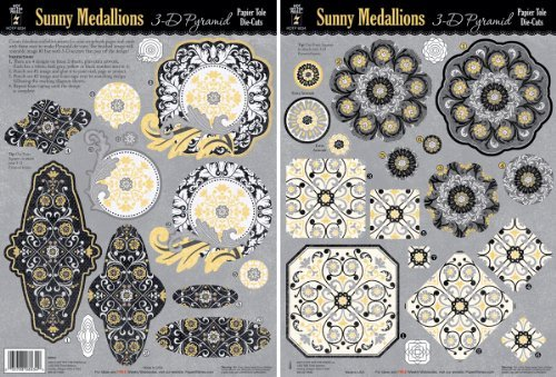 Hot Off The Press 3-D Papier Tole Die-Cut 2-Pack: Sunny Medallion by Hot Off The Press