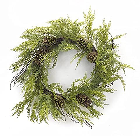 Melrose International, LLC 64560 Melrose International Cypress Wreath with Pinecones 32