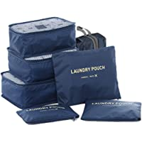 HiDay 7 Set Sistema di Cubo di Viaggio + 3 Cubi di Imballaggio + 3 Sacchetti + 1 Borsa Scarpe Premium - Perfetto di…