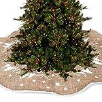 Coperta decorativa in iuta per base di albero di Natale
