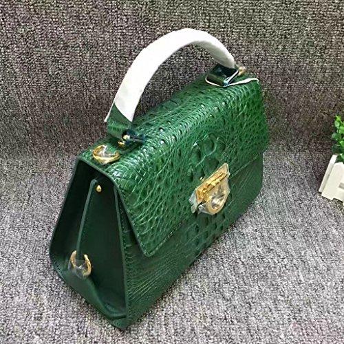 CROCUST Lusso Coccodrillo Donne Borsa di Pelle Vera di Coccodrillo Crossbody Borsa di Moda Verde