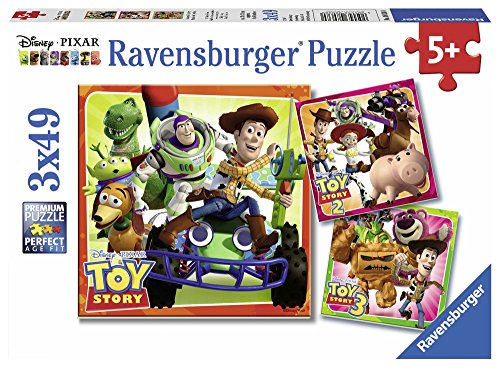 Ravensburger Italy 08038 - Disney Pixar Toy Story History Puzzle, 3 x 49 Teile