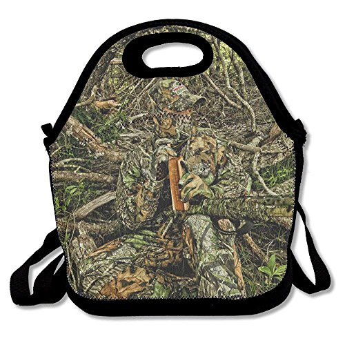 Icndpshorts Hunting Camo Forest Hide Party Lunch Bag Tote Handbag Lunchbox for School Work Outdoor
