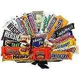 Heavenly Sweets - Grand Coffret Cadeau Américain Tout Chocolat /Chocolat/Bonbons Cadeau Noël/Anniversaire - Boîte Effet Osier