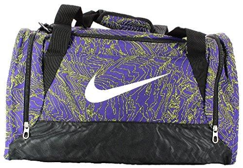 Nike Brasilia 6Duffel Graphic SM-Borsa sportiva, Unisex adulto, Brasilia 6 Duffel Graphic Sm, morado (court purple  / black  / white), Unica