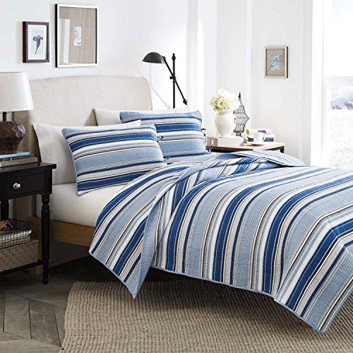 Stone Cottage Fresno Baumwolle Quilt Set, blau, Twin - Quilt Twin Cottage