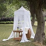 AIHOME Moskitonetz Moskito Fliegennetz Baldchin Mückenschutz für Doppelbetten Kinderzimmer Outdoor Weiß