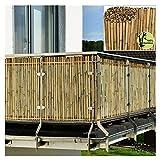 Balcone Protezione Stecca di bambù Schermata Privacy Scudo per Recinzione da Giardino Naturale Protezione dal Vento E dal Sole Copertura di Balconi Come Divisorio O Pannello Decorativo