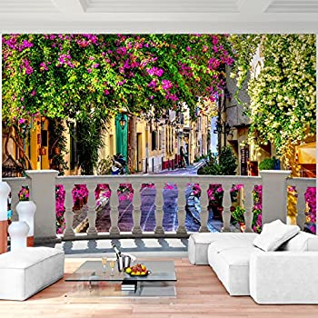 vlies fototapete fototapeten tapete tapeten poster italien blumen gasse 1339 ve baumarkt. Black Bedroom Furniture Sets. Home Design Ideas