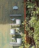 ZENGAI Wand-hängende Blumen-Zahnstange Retro Blumen-Töpfe tun die alte mehrgeschossige Wand-Dekoration-Eisen-Vogel-Rahmen-hängende Blumen-Regal-Wand-Blumen-Standplatz (größe : 32*19*102cm)