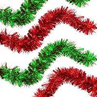 The Twiddlers Paquete de 2 - Boa guirnaldas de Navidad - 2 Colores Festivos en Rojo y Verde Decoracion árbol de Navidad y más