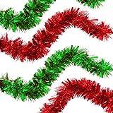 The Twiddlers Ghirlanda Natale Confezione da 2 Pezzi - Addobbo Natalizia in 2 Colori Luminosi, Rosso e Verde - Perfetto per Decorare Alberi di Natale e Altro
