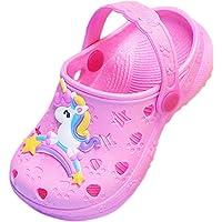 Coralup Little Kids Cute Garden Shoes Unicorn Slippers Summer Dinosaur Beach Sandals Comfort Lightweight Anti-Slip Clog…
