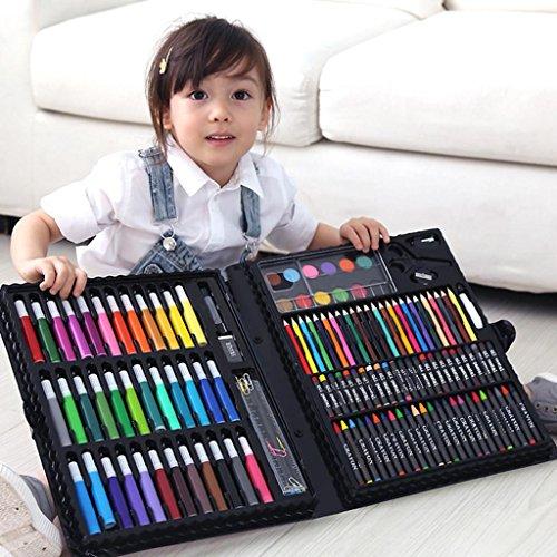 Kunst-Set, 150 Stk. Deluxe Wachsmalstifte Farben Stifte Bleistifte Sets Professionelle Kinder Art...