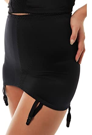 5fe87adebd8 Ladies Roll On Control Girdle with Suspenders 412 Black