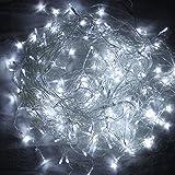 HG® 10m 200 LED Eiszapfen Außenlichterkette Lichterkette Kaltweiß für Weihnachtsfest Party Hochzeit außen Fassaden