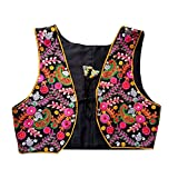 #10: Trendish Women's Kutchi Designer Jacket Koti (Kutchi Mirror Work -Black Background)