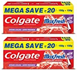 #10: Colgate Maxfresh Spicy Fresh Red Gel Toothpaste - 300 g (Pack of 2)