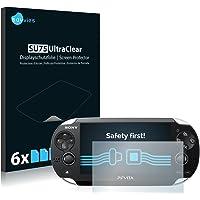 savvies 6-Pezzi Pellicola Protettiva Compatibile con Sony Playstation Vita Protezione Schermo Trasparente