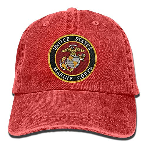Eagle Mens Fitted T-shirt (Nizefuture USMC-Eagle Globe and Anchor Denim Hat Adjustable Unisex Flag Baseball Hat)