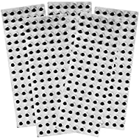 Amazing Arts and Crafts 10mm Self Adhesive Wiggle Eyes on Sheets 480 Eyes 5 Sheets of 96