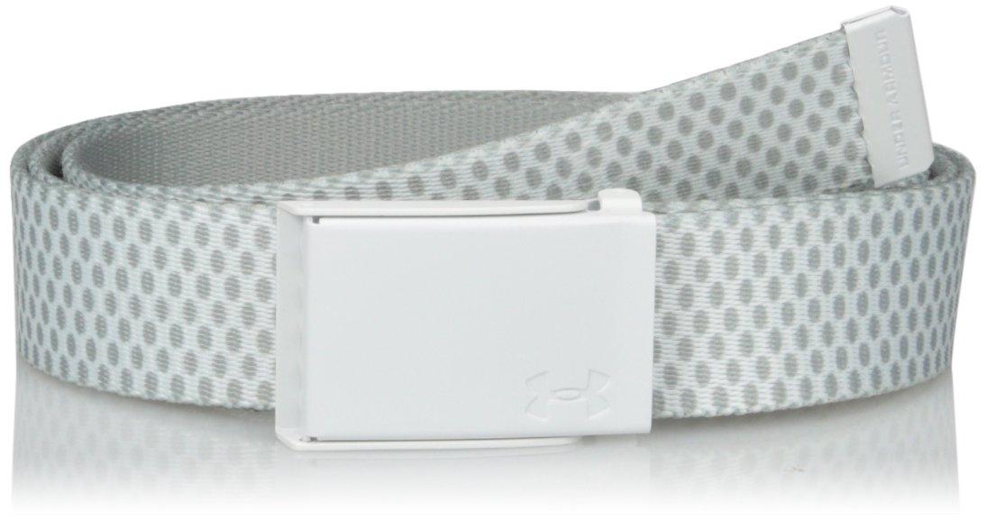 Under Armour UA stampato cintura, donna, UA Printed Webbing Belt, White, Taglia unica