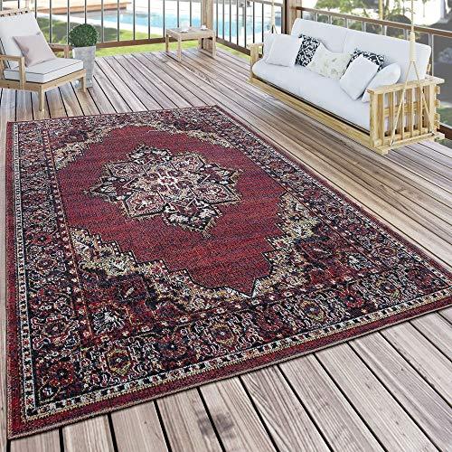 Paco Home In- & Outdoor Teppich Modern Vintage Look Terrassen Teppich Wetterfest Bunt, Grösse:120x170 cm