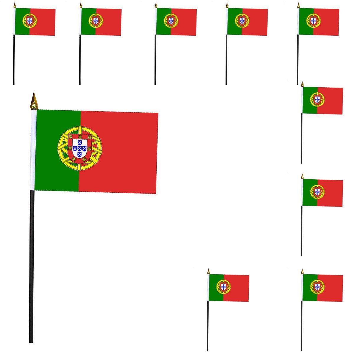 Sonia Originelli 10er Set Mini Flaggen WM Fußball 10x15 cm Party Anfeuern Fahnen