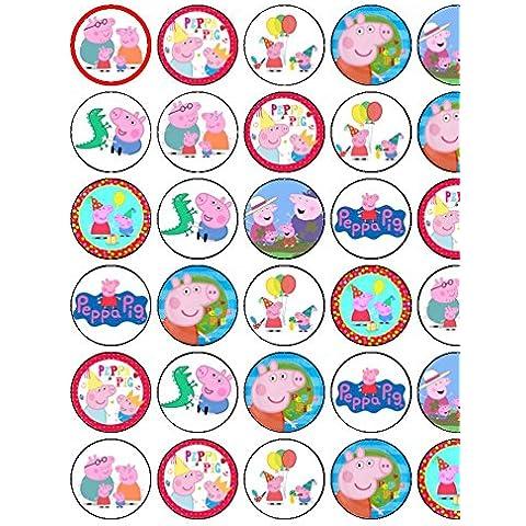 30colori assortiti 1° compleanno ragazze/ragazzi Premium Carta di riso topper per torte 11/2